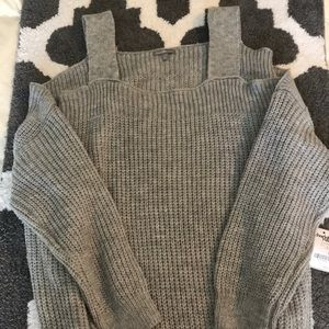 Charlotte Russe Cutout Shoulder Sweater